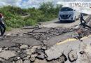 Lluvias destruyen carretera recién estrenada en Unión Hidalgo, Oaxaca; costó 14 millones de pesos