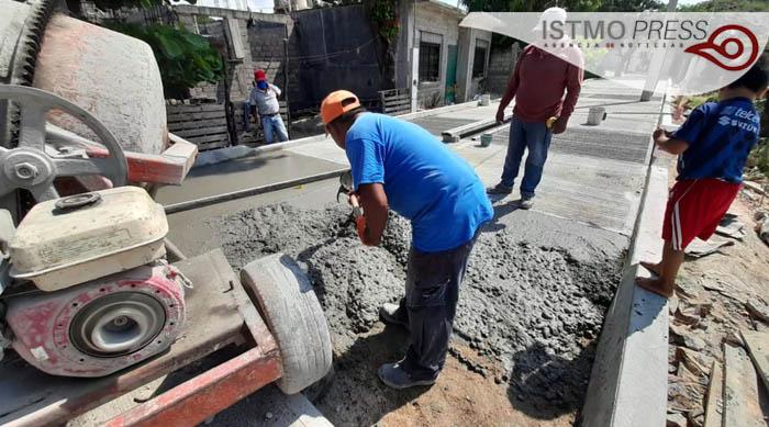 Obra pavimentación Juchitán