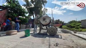 Obra pavimentación Juchitán1