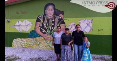 Dedican mural a los artesanos de la palma en Unión Hidalgo; enfrentan vulnerabilidad por pandemia y falta de apoyo