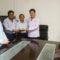Rodolfo León Aragón y Alejandro Murat aportan apoyo a escuelas afectadas por sismos