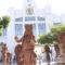 Estatuas vivientes de Dioses Zapotecas recorren las calles de Ixtepec