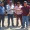 Antonino Morales entrega vehículo y uniforme para policías de la Agencia Municipal de Santa Rosa de Lima.